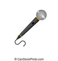 Microphone for Karaoke. Illustration on white background.