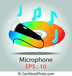 Microphone for Karaoke vector illustration.