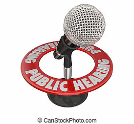 microphone, forum, audition, mots, réunion, public, 3d