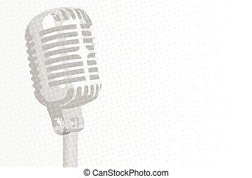 microphone, gris, fond