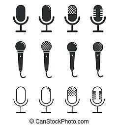 microphone, icônes