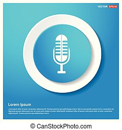 Microphone icon Abstract Blue Web Sticker Button