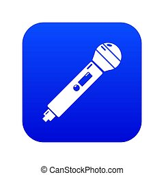 Microphone icon blue