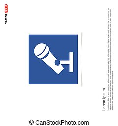 Microphone Icon - Blue photo Frame