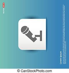 Microphone Icon - Blue Sticker button