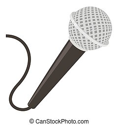 microphone cartoon icon with red button illustration on white rh canstockphoto com cartoon microphone drawing cartoon microphone images