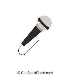 microphone icon, flat design vector
