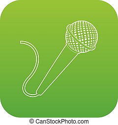 Microphone icon green vector