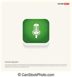 Microphone Icon Green Web Button