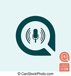 Microphone icon isolated