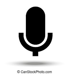 Microphone icon isolated on a white background.