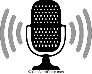 microphone icon isolated on background