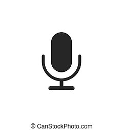 microphone icon isolated on white background