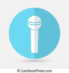 microphone icon on a white background