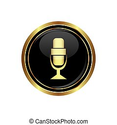 Microphone icon on the black