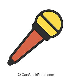 Microphone icon on white background. Vector illustration. EPS 10.
