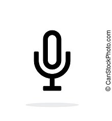 Microphone icon on white background. Vector illustration.