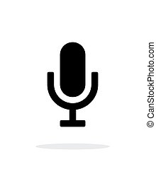 Microphone icon on white background.