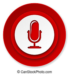 microphone icon, podcast sign