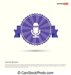 Microphone Icon - Purple Ribbon banner