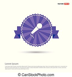 Microphone icon - Purple Ribbon banner