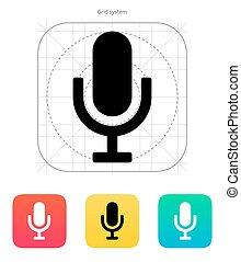 Microphone icon. Vector illustration.
