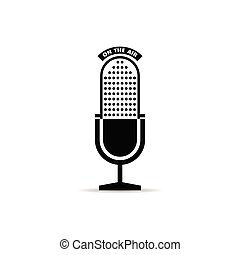 microphone icon vector with on the air