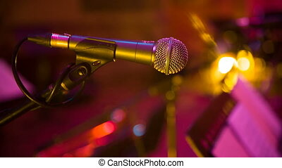 microphone in concert hall