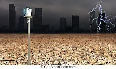 Microphone in Dystopic world
