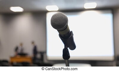 microphone in the hall