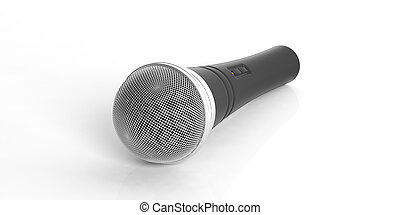 Microphone isolated on white background. 3d illustration