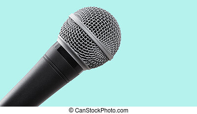 Microphone isolated with clipping path