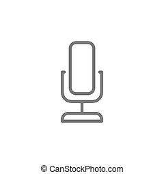 Microphone line icon.