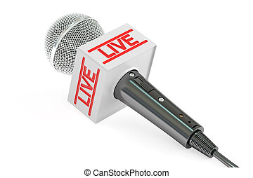microphone live, 3D rendering