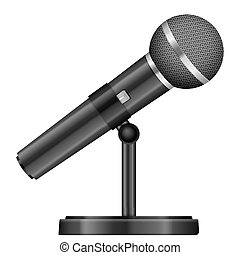 Microphone on a white background. Vector illustration.