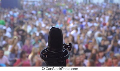 Microphone. Microphone on stage