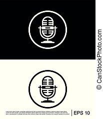Microphone, multimedia, record icon