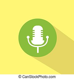 microphone music sound icon flat design vector
