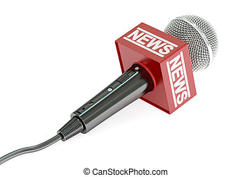 microphone news, 3D rendering
