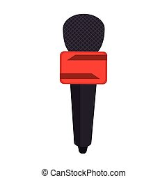 microphone news journalist media audio public press vector ...
