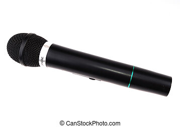 Microphone of black colour