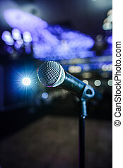Microphone on a Stage