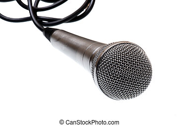 microphone on a white