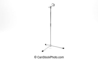 Microphone on metal stand