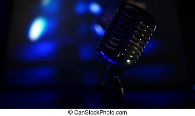 Microphone on stage at a concert