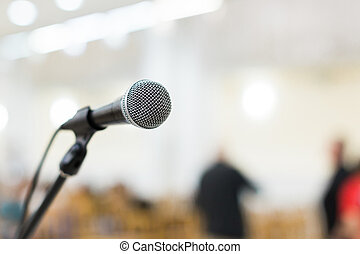 microphone on stage at the concert