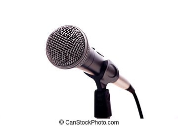 Microphone on White