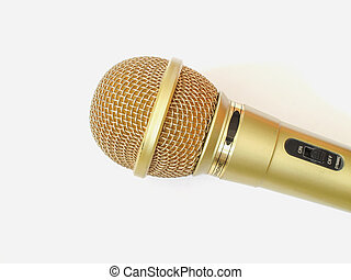 Microphone on white background