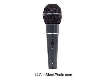 Microphone on white.