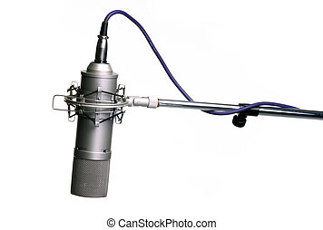 Microphone - Studio microphone on tripod